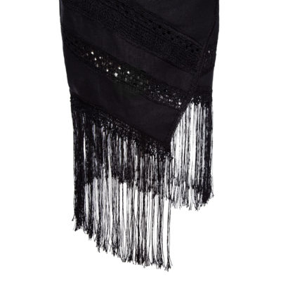 asymmetric fringe skirt by miaandgia.com