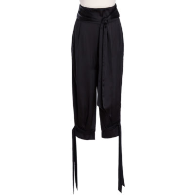 black silk pants by miaandgia.com